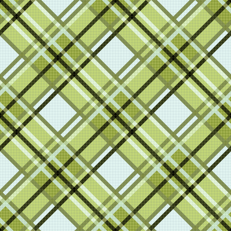 scot: Seamless diagonal colorful pattern mainly in green, and other light warm hues