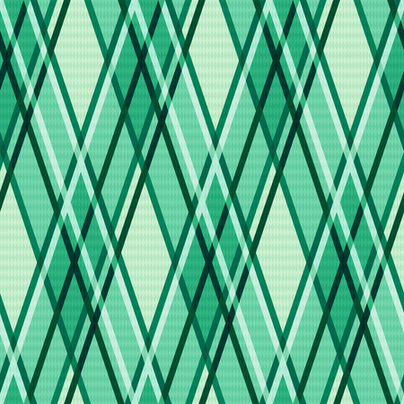 sappy: Seamless rhombic modern trendy colorful pattern mainly in Emerald hues Illustration