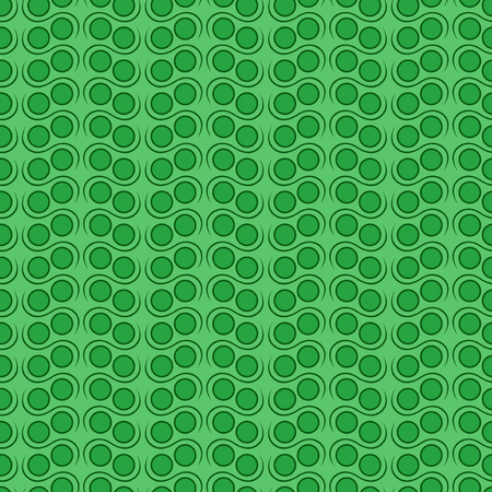 hues: Seamless vector pattern with simple geometric details in green hues Illustration