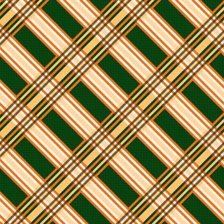 hues: Seamless diagonal vector pattern mainly in orange and green hues Illustration