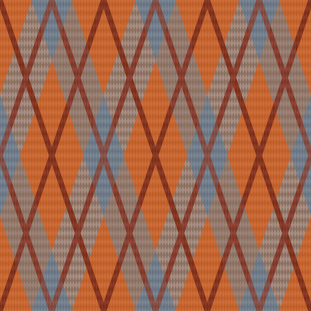 rhombic: Seamless rhombic vector pattern mainly in grey and orange hues