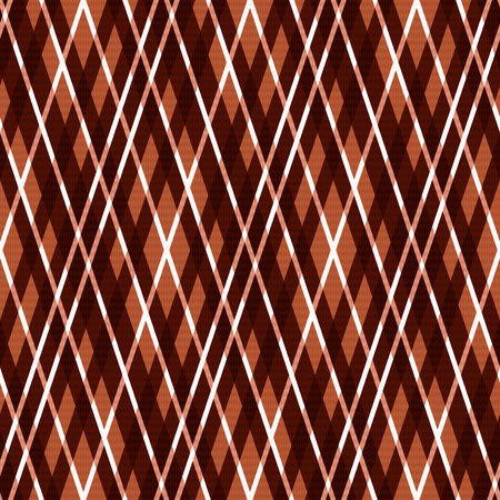 rhombic: Seamless rhombic vector pattern mainly in brown hues