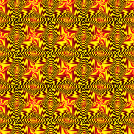 Abstract seamless vector pattern with rotating yellow shapes