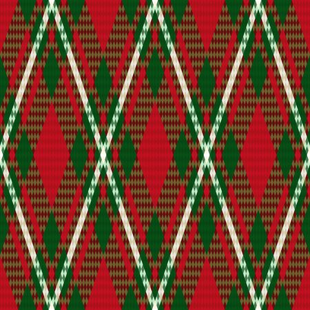 rhombic: Rhombic seamless checkered vector pattern mainly in green and red hues
