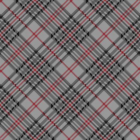 hues: Diagonal seamless checkered vector pattern in grey and red hues
