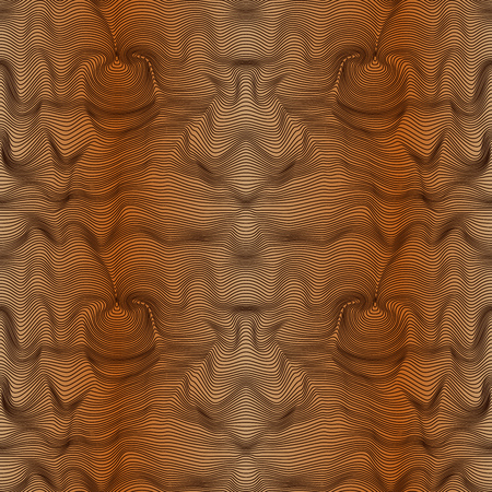 repeats: Abstract seamless vector pattern with curly lines in brown hues with gradient