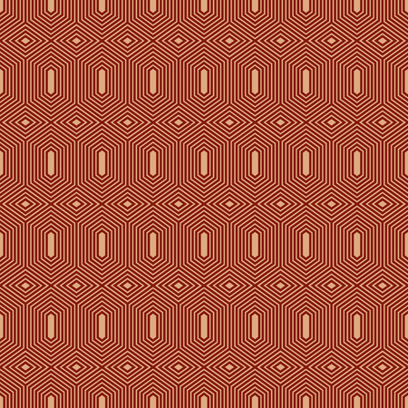 repeats: A seamless geometric vector background in brown and beige colors.
