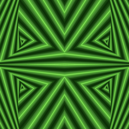 Abstract geometric vector pattern in green colors