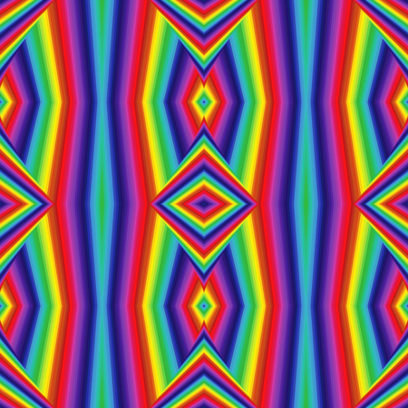 Abstract geometric vector pattern in spectrum colors