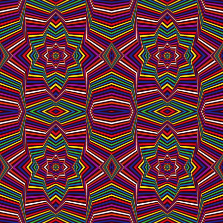 Abstract geometric vector pattern in different colors Ilustração