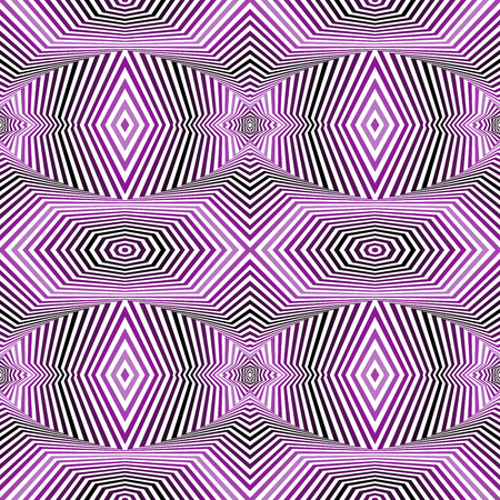 Abstract geometric vector pattern in white color and purple hues