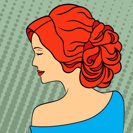 Red-haired lady icon.