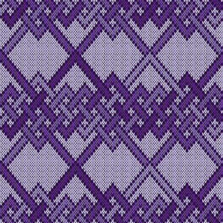Interlaced lines on the light background seamless vector pattern as a fabric texture in purple hues