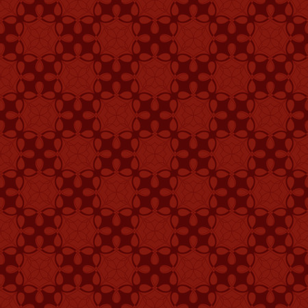 Seamless antique pattern with interlaced red lines on the dark background as a fabric texture 일러스트