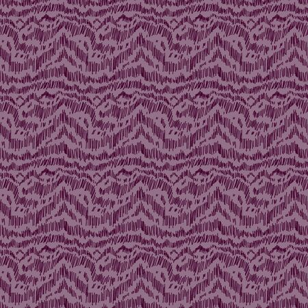 Seamless abstract pattern with randomly lines in magenta hues, similar to mountains, hand drawing
