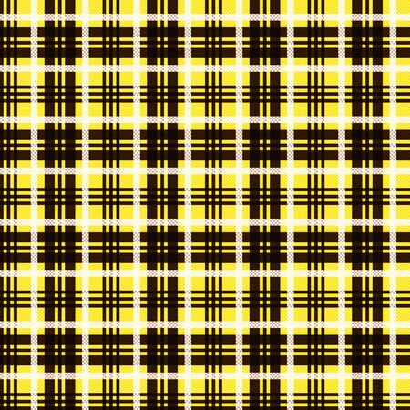Seamless checkered shades of brown, yellow and white pattern as a tartan plaid