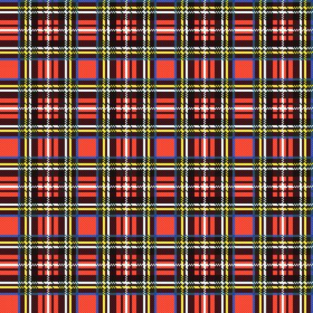 Seamless checkered shades of colorful illustration pattern as a tartan plaid