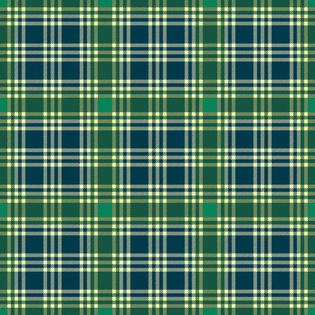 Tartan Scottish seamless pattern mainly in green, yellow and muted blue hues, texture for flannel shirt, plaid, tablecloths, clothes, bedding, blankets and other textile