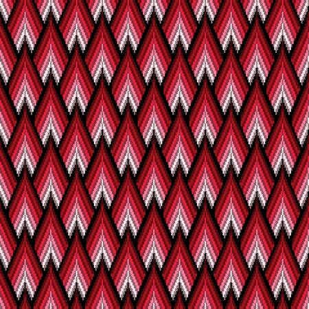 Seamless vector pattern of repetitive elements with different brightness of red color