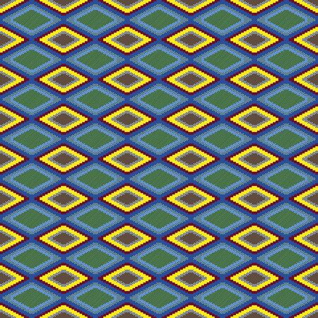 Seamless pattern of repetitive rhombic elements with different colors