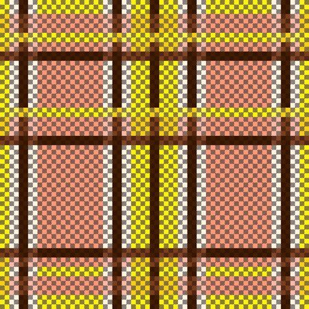 Tartan Scottish seamless pattern mainly in terracotta and brown hues, texture for flannel shirt, plaid, tablecloths, clothes, bedding, blankets and other textile