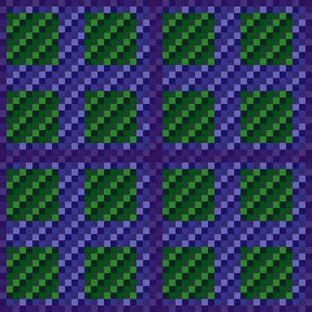 Contrast rectangular seamless vector pattern as a tartan plaid mainly in green and violet hues, texture for flannel shirt, plaid, tablecloths, clothes, blankets and other textile