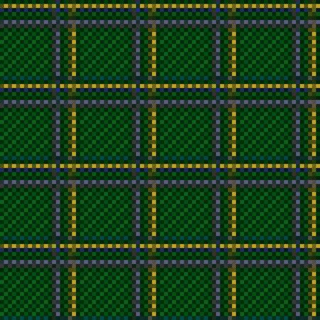 Tartan Scottish muted seamless pattern in green, yellow and blue hues, texture for flannel shirt, plaid, tablecloths, clothes, blankets and other textile Stock Illustratie