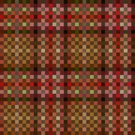 Motley seamless rectangular vector pattern as a tartan plaid mainly muted hues, texture for flannel shirt, plaid, tablecloths, clothes, blankets and other textile