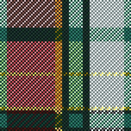 Tartan Scottish seamless pattern in various colors, texture for flannel shirt, plaid, tablecloths, clothes, blankets and other textile Stock Illustratie
