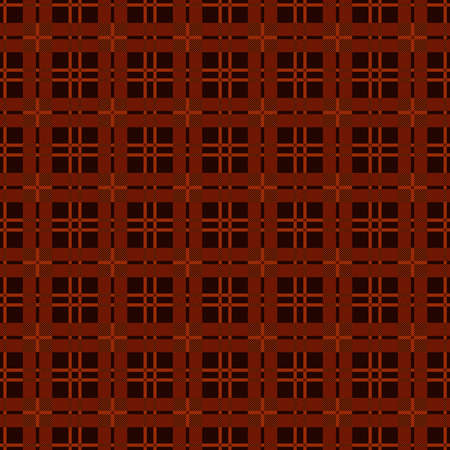 Rectangular seamless vector pattern as a tartan plaid mainly in brown hues, texture for flannel shirt, plaid, tablecloths, clothes, blankets and other textile