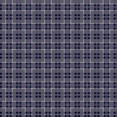 Muted tartan Scottish seamless pattern in blue gray hues, texture for tartan, plaid, tablecloths, clothes, bedding, blankets and other textile Stock Illustratie
