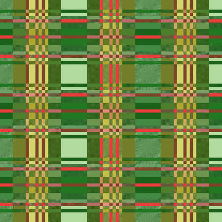 Tartan Scottish muted seamless pattern in green, khaki and pink hues, texture for flannel shirt, plaid, tablecloths, clothes, blankets and other textile