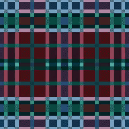 Tartan Scottish seamless pattern in muted red, blue, turquoise and green colors, texture for flannel shirt, plaid, tablecloths, clothes, blankets and other textile Vettoriali