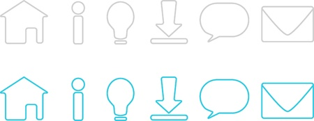 Simple and Minimalist Icon Sets for Website Design
