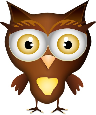 color illustration of a cute little owl Stock Vector - 14698385