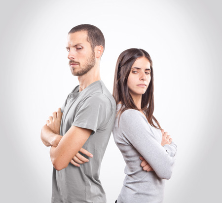 Angry young couple Imagens