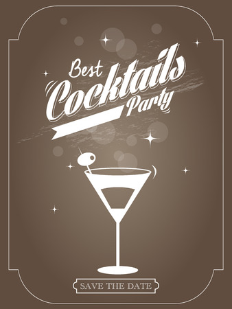 poster for a cocktail party, vector illustration