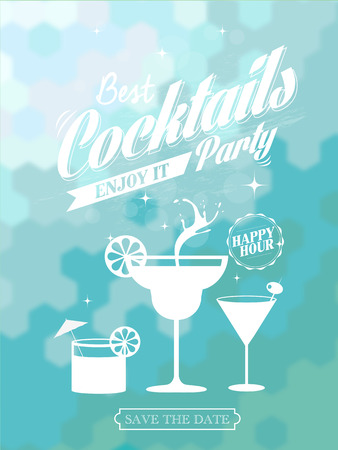 cocktail cold: poster for a cocktail party, vector illustration