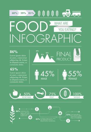 Food Infographic elements design vector Illustration