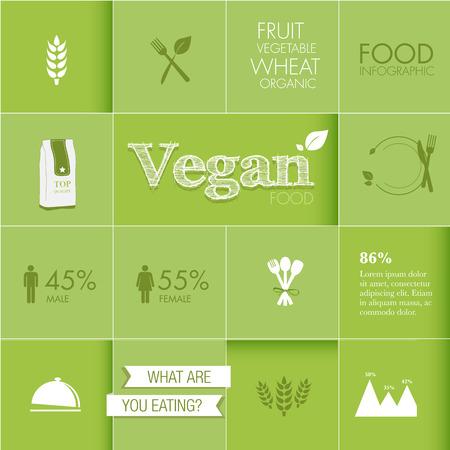 Food Infographic elements design vector Ilustração