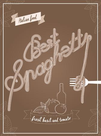 Vector illustration of spaghetti