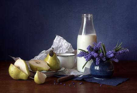 Stil life with milk
