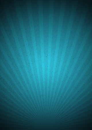blue ray: Aquamarine Vintage Background with Sunbeams. Retro Style with Dark Vignette.
