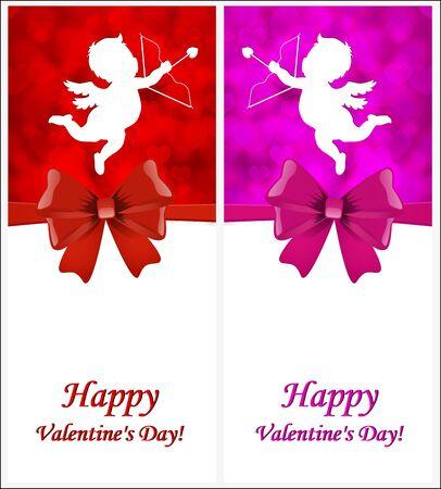 Postcard Valentines Day Cupid