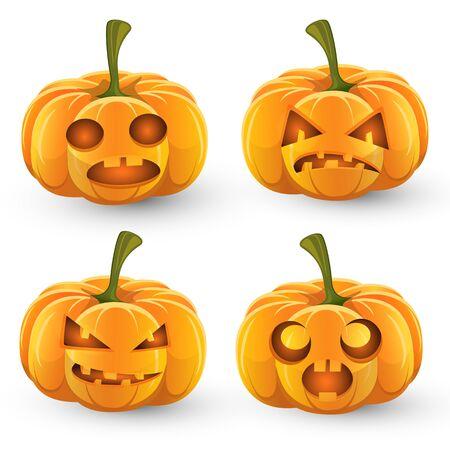 Halloween pumpkin set Ilustracja