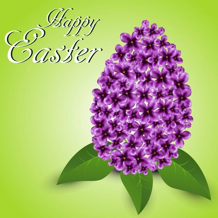 Greeting card for Easter with lilac Ilustrace