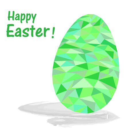 Abstract green Easter egg