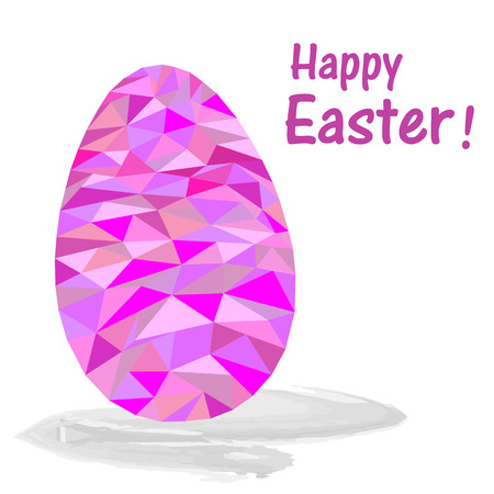 Abstract pink Easter egg