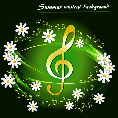 Abstract summer background with daisies
