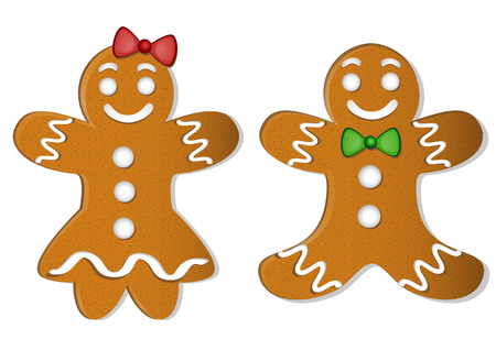 Christmas gingerbread cookies Illustration